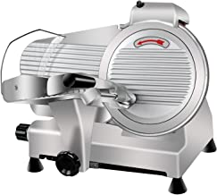 Super Deal Commercial Stainless Steel Semi-Auto Meat Slicer, Cheese Food Electric Deli..