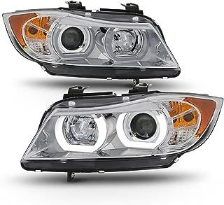 ACANII - For [HID/Xenon-AFS] 2006-2008 BMW E90 Sedan LED Tube Projector Headlights Headlamps Driver & Passenger Side