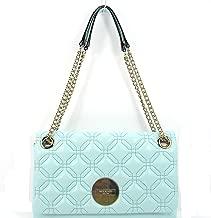 Kate Spade Astor Court Cynthia Gracie Blue Leather Shoulder Bag