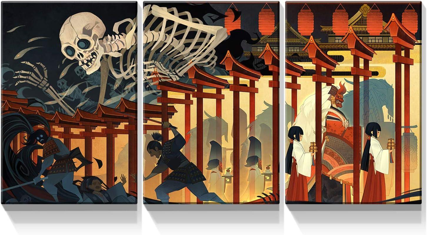 Denozer Direct sale Max 85% OFF of manufacturer - 3 Piece Canvas Wall Art Takiyash Kuniyoshi Utagawa