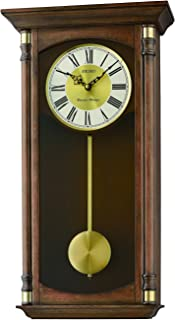 Seiko Dual Chimes Wall Clock with Pendulum, Wood, Brown, 18.4 x 37.1 x 66.3 cm