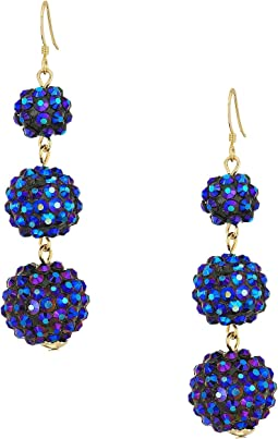 Kenneth Jay Lane - 3 Ball Drop Fishhook Earrings