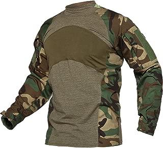 Men's Slim Fit Military Rapid Assault Shirt Tactical Military Camo Long Sleeve Shirts