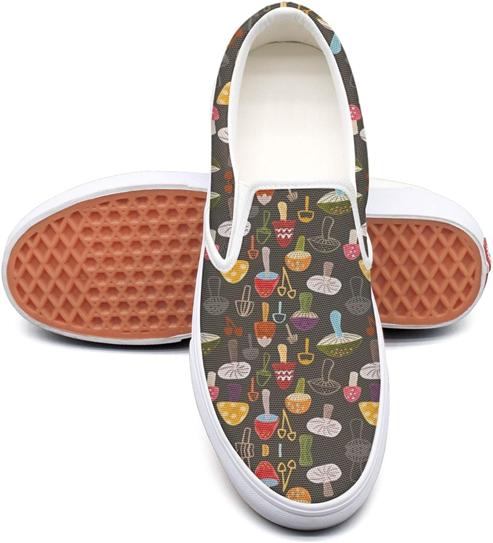RegiDreae Canvas Slip On Sneakers for Women Mushroom Pattern Fashion Sneaker