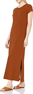 Amazon Brand - Daily Ritual Women's Lived-in Cotton Short-Sleeve Crewneck Maxi Dress