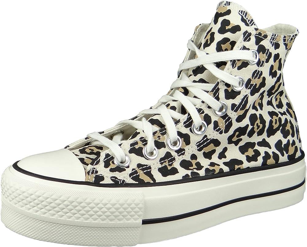 Converse chucks plateau sneakers casual da donna in tela VN25CONVERSE637A