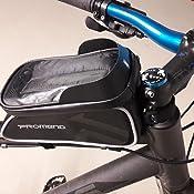 FINGER TEN Fahrrad Rahmentasche Wasserdicht Fahrrad Handyhalterung Ideal F/ürs Navi Fahrradtasche Rahmen mit Fingerabdrucksensor Unterst/ützung Kopfh/örerloch F/ür Simples Entsperren W/ährend der Fahrt