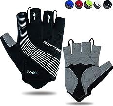 Souke Sports Mountainfiets Handschoenen voor Heren/Dames Gewatteerde Antislip Vingerloze Wegrijhandschoenen