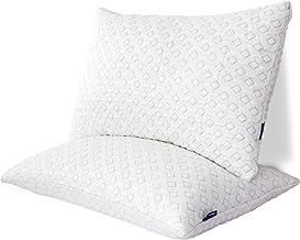 وسائد سرير نوم من الإسفنج الذاكرة، وسائد سرير قابلة للتعديل مع غطاء تبريد من الخيزران، وسائد نوم جل لا تسبب الحساسية للنوم...