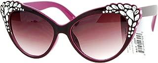 SA106 Womens Rhinestone Sparkling Bling Cat Eye Fashion Sunglasses