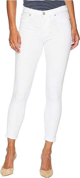 Petite Nico Mid-Rise Super Skinny in White