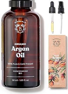 HUILE D'ARGAN BIO | 100% Pure, Naturelle & Pressée à Froid | Visage, Corps, Cheveux, Barbe, Ongles | Vegan & Cruelty Free...