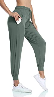 ATTRACO Women's Joggers Pants with Pockets Drawstring Workout Running Sweatpants