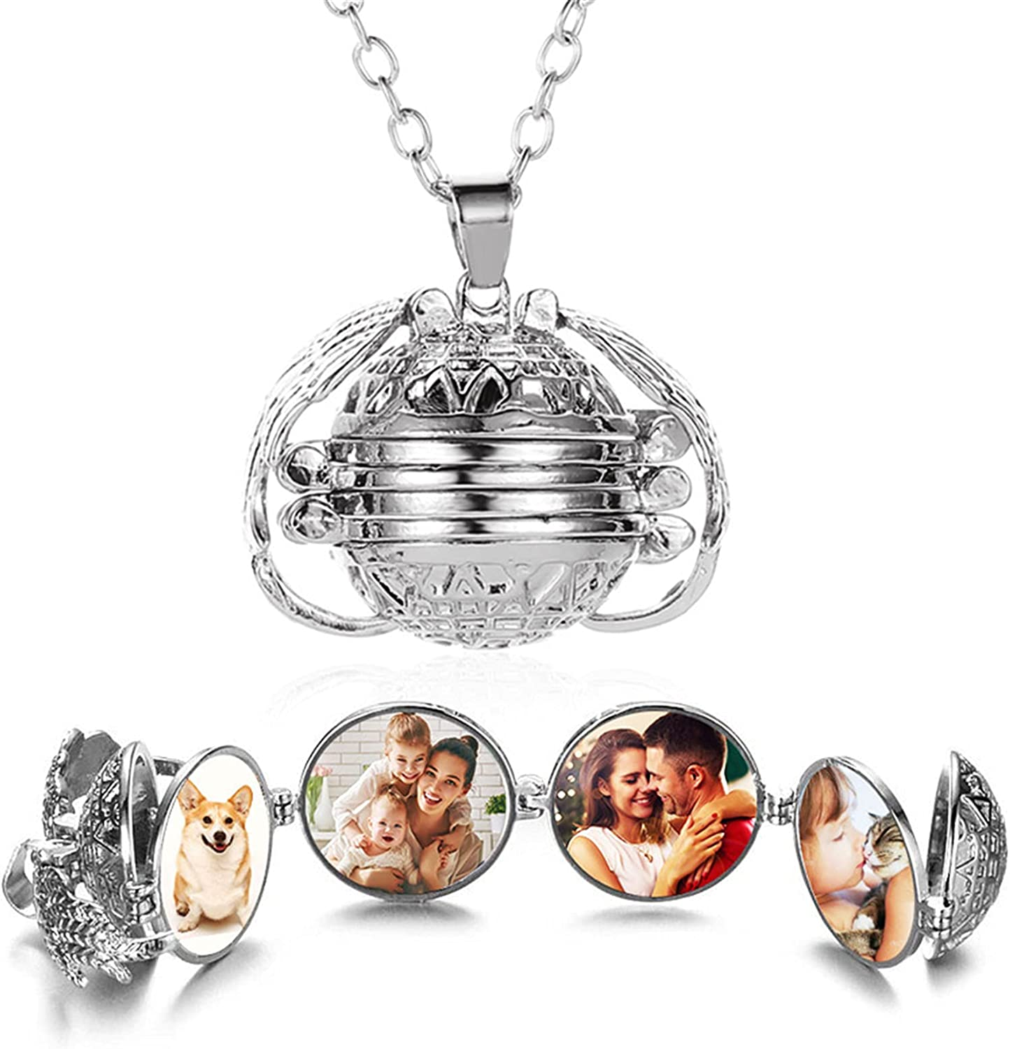 ONLYJUMP Wing Photo Locket Ranking TOP19 Necklace store Pictur 4 for Women