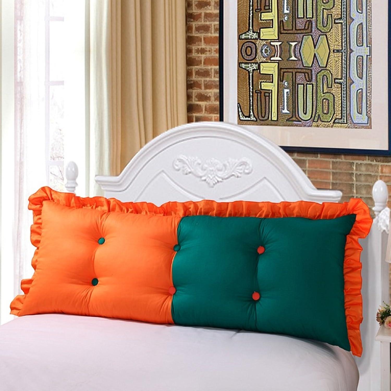 NYDZDM Double Tête de lit coussins de coussin coton sac souple canapé chambre grand dossier arrière oreiller lavable, 5 couleurs, 5 tailles (Couleur   3, Taille   100 × 55cm)