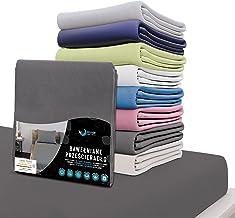 Dreamzie - prześcieradło 180x200 CM - 100% bawełna Koszulka certyfikat Óko Tex - antracyt - na materac o wymiarach 180 x 2...
