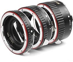 SHOOT Aluminum AF Auto Focus Macro Extension Tube Set for Canon EOS EF EF-S Lens DSLR Cameras 1100D 700D 650D 600D 550D 500D 450D 400D 350D 300D 100D 70D Close-up(13mm 21mm 31mm)