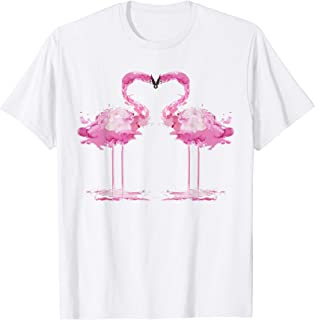 PINK FLAMINGO Watercolor Shirt | Bird Painter Tee Gift