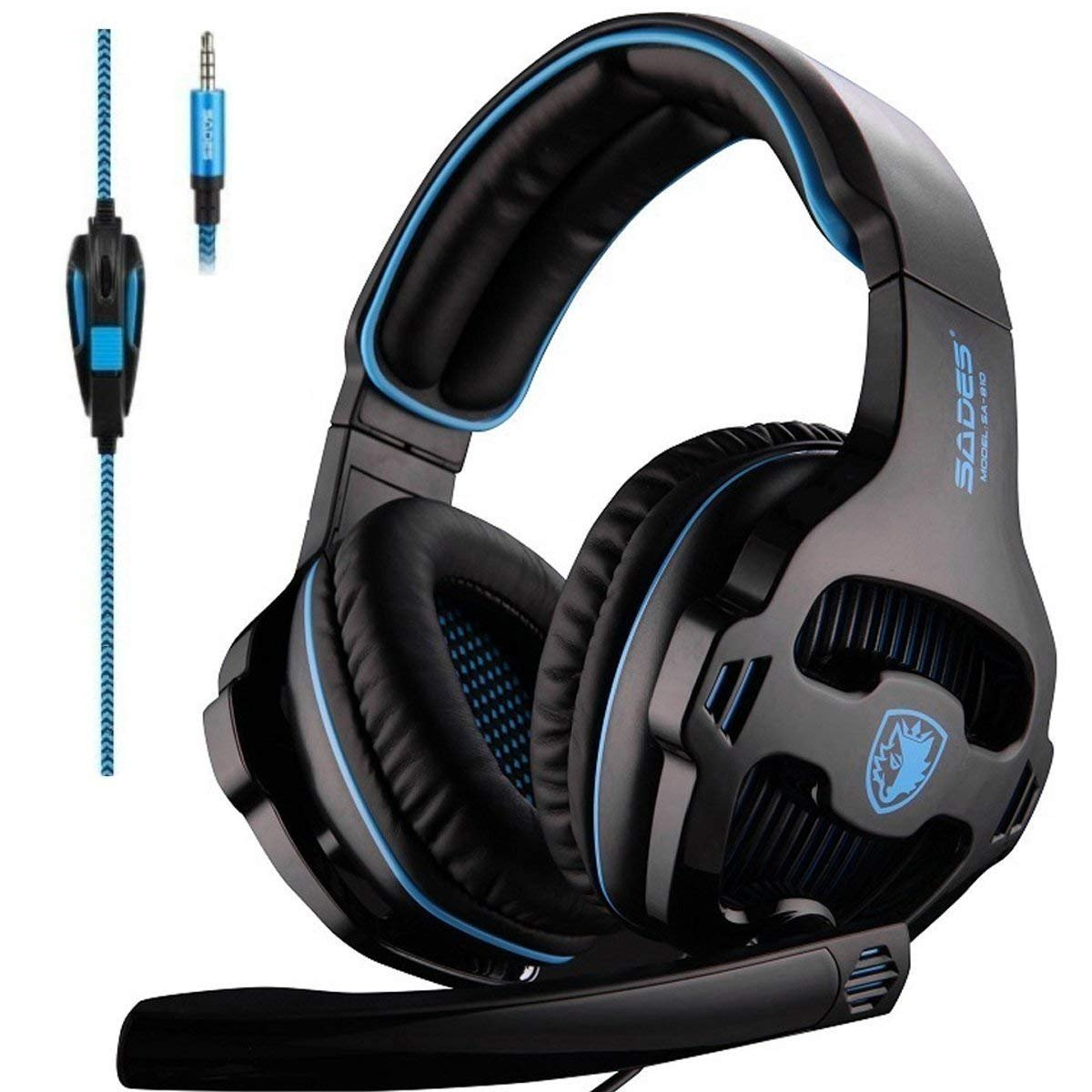 SADES Headset Headphone Over Ear Control