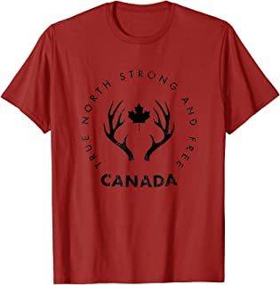 True North Strong And Free Canada T Shirt Distressed Look