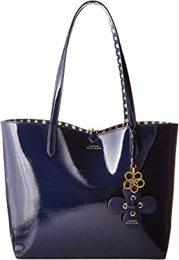 New. Navy Mixed Geo. 27. LAUREN Ralph Lauren. Merrimack Reversible Tote bc42340d3ff74