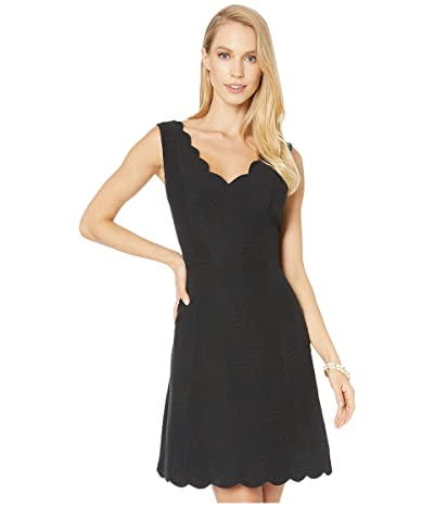 Lilly Pulitzer Sabeen Stretch Dress (Onyx Fern Pucker Jacquard) Women