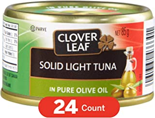 Clover Leaf Solid Light Tuna in Olive Oil, 24 Count