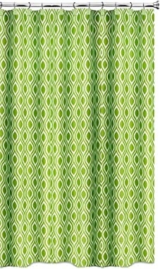 Popular Bath Fabric Shower Curtain, Nicole Collection, Lime Green