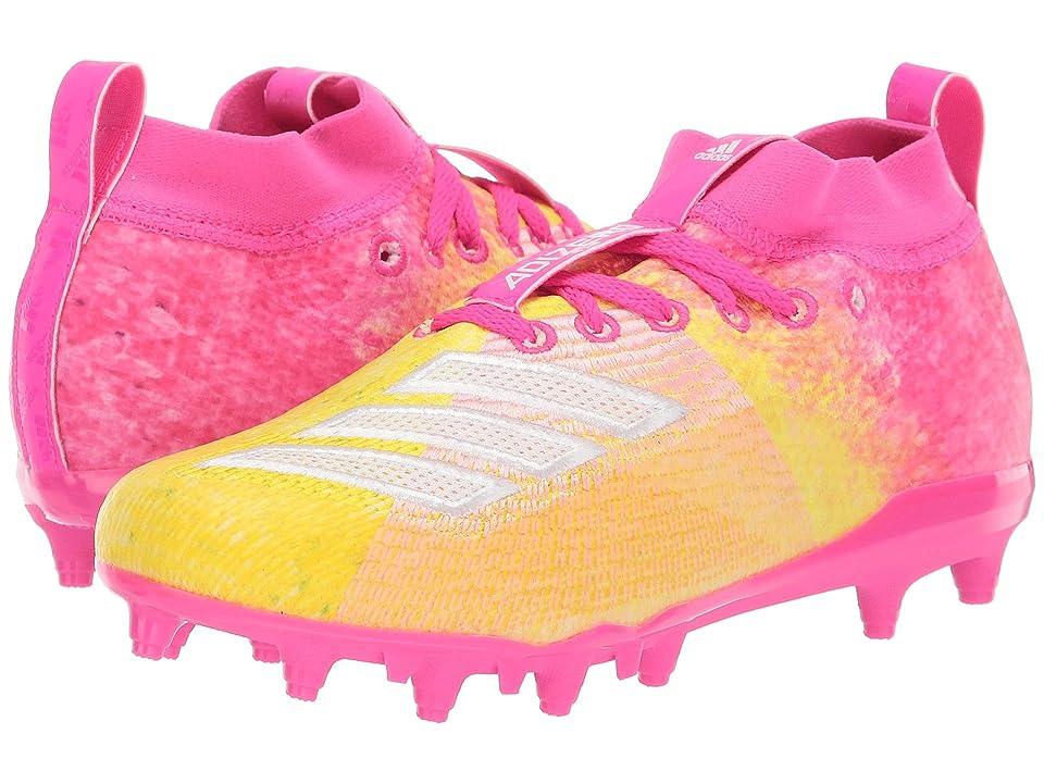 adidas Kids Adizero Burner Snowcone Football (Little Kid/Big Kid) (Shock Pink/White/Yellow) Kids Shoes