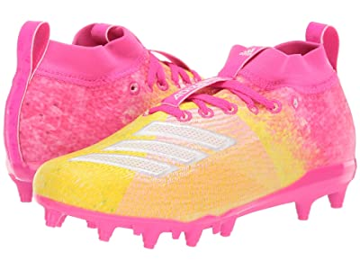 adidas Kids Adizero Burner Snowcone Football (Little Kid/Big Kid) (Shock Pink/White/Yellow) Kids Shoes