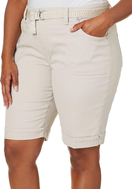 Max Limited price 57% OFF Gloria Vanderbilt Women's Mia Belted Bermuda Short