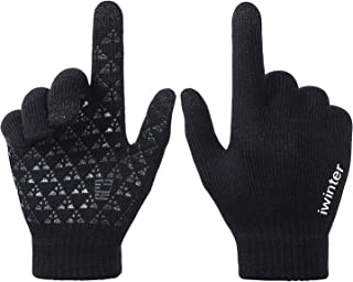AXYOFSP Touchscreen Texting Gloves Winter Warm Knit Driving Non-Slip Glvoes For Men Women