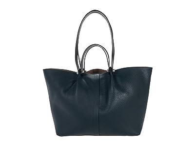 AllSaints Allington East/West Tote (Dark Green) Handbags