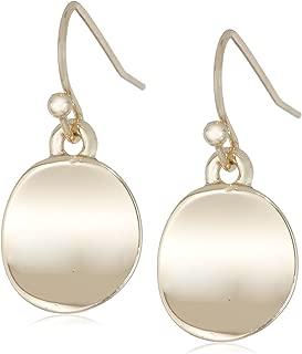 Shiny Earrings Small Circle Drop Earrings