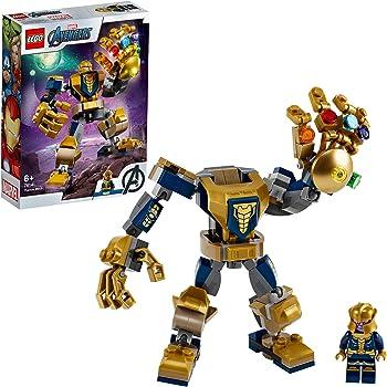 LEGO Super-Héros Marvel Avengers, Le robot de Thanos, Set de jeu, Figurine de bataille, Set Junior pour enfants de 6 ans et plus, 109 pièces, 76141