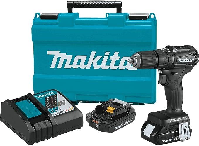 "Makita XPH11RB 18V LXT Lithium-Ion Sub-Compact Brushless Cordless 1/2"" Hammer Driver-Drill Kit"