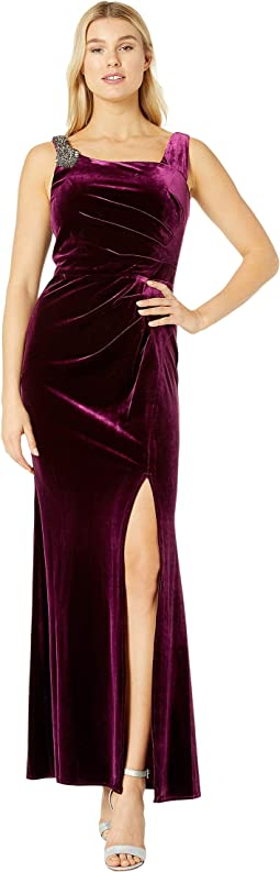Ted Baker Cornela Pleated Velvet Midi Dress Free Shipping