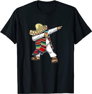Mexican Poncho Dabbing T-Shirt Cinco de Mayo