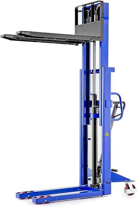 Carrello elevatore transpallet manuale portata 1 0t / 1000kg salita 2 0m / 2000mm Tradedrive  10000903000082