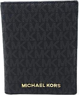Michael Kors Jet Set Travel Passport Holder Wallet Case PVC 2019 (Black PVC)