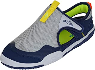 skoodo Kids Casual Sports Shoes (Boys and Girls 6-14 Years) - Winger Glide - Steel Grey | Navy