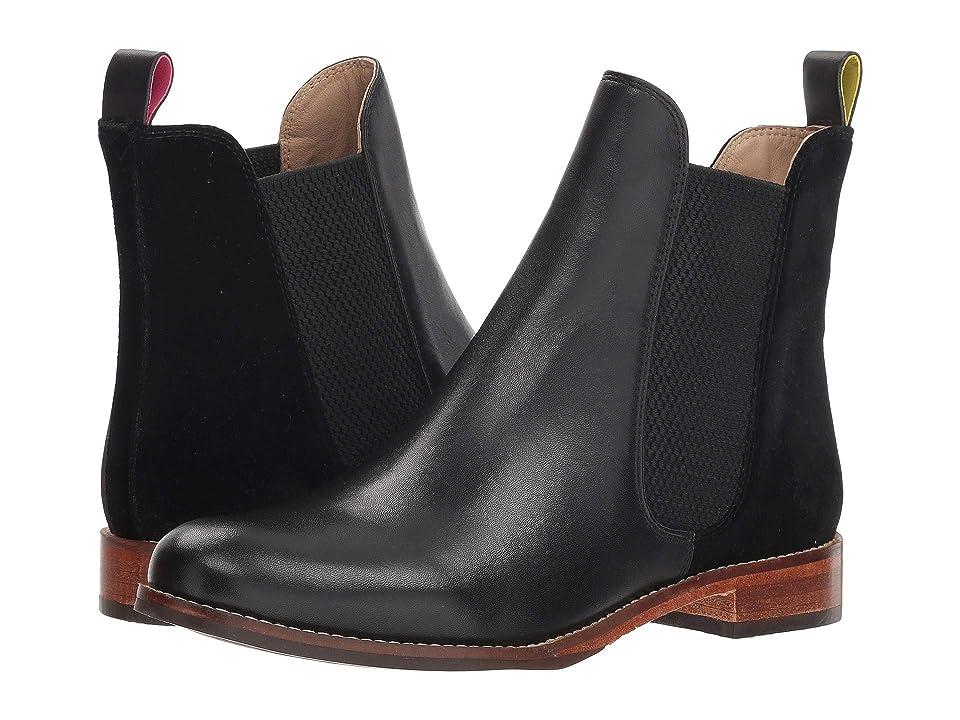 Joules Leather Chelsea Boot (Black Velvet) Women