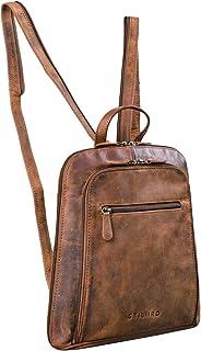 """STILORD """"Talisa"""" Kleiner Leder Rucksack Damen Vintage Rucksackhandtasche Lederrucksack Handtasche City Ausgehen Shopping Daypack"""