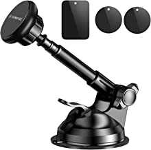 VANMASS Magnetic Phone Car Mount, Universal Phone Holder for Car Dashboard, Windshield, Air Vent, One Hand Operation, Compatible with iPhone, Samsung & More
