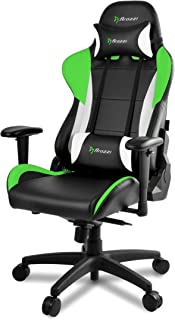 Arozzi Verona Pro V2 Premium Racing Style Gaming Chair with High Backrest, Recliner, Swivel, Tilt, Rocker and Seat Height Adjustment, Lumbar and Headrest Pillows Included, Green