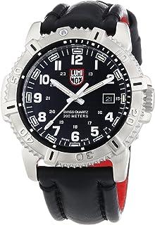 ساعة لومينكس العصرية مارين بمينا سوداء SS جلد كوارتز للرجال 6251.BO