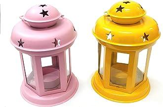 Artshai Handcrafted Lantern lamp tealight Candle Holder for Diwali Gifts .Hanging Lantern Decorative tealight Candle Holde...