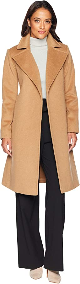 Petite Wool Wrap Coat