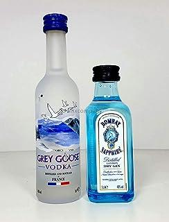 Grey Goose Vodka 50ml 40% Vol  Bombay Sapphire Gin 50ml 40% Vol