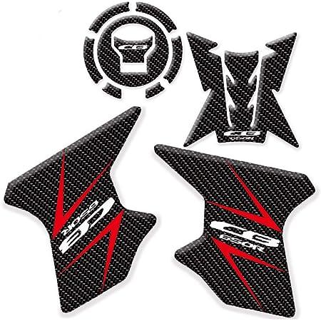 2 3d Gel Stickers Seitenschutz Cb 650 R Kompatibel Für Motorrad Honda Cb650r Auto